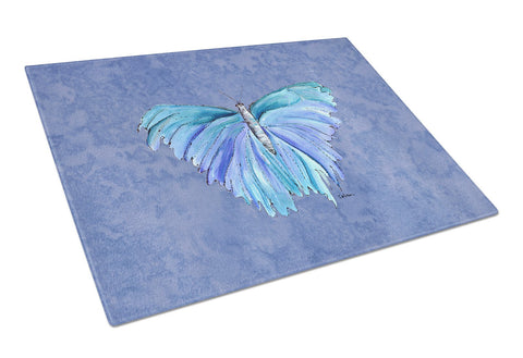 Buy this Butterfly on Slate Blue Glass Cutting Board Large