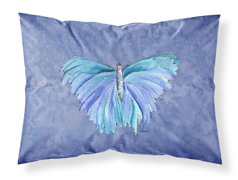 Buy this Butterfly on Slate Blue Moisture wicking Fabric standard pillowcase