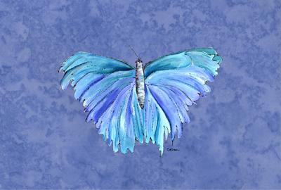 Buy this Butterfly on Slate Blue Fabric Placemat