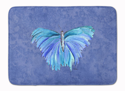 Buy this Butterfly on Slate Blue Machine Washable Memory Foam Mat 8855RUG