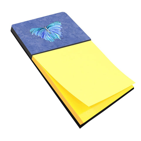 Buy this Butterfly on Slate Blue Refiillable Sticky Note Holder or Postit Note Dispenser 8855SN