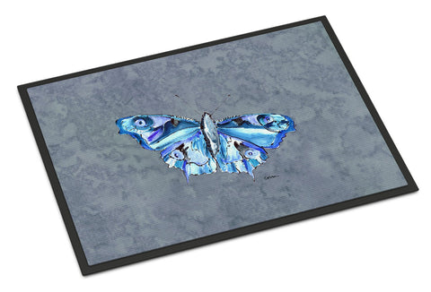 Buy this Butterfly on Gray Indoor or Outdoor Mat 24x36 Doormat