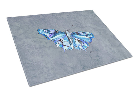 Buy this Butterfly on Gray Glass Cutting Board Large