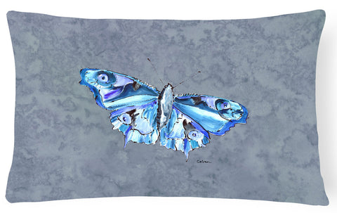 Buy this Butterfly on Gray   Canvas Fabric Decorative Pillow
