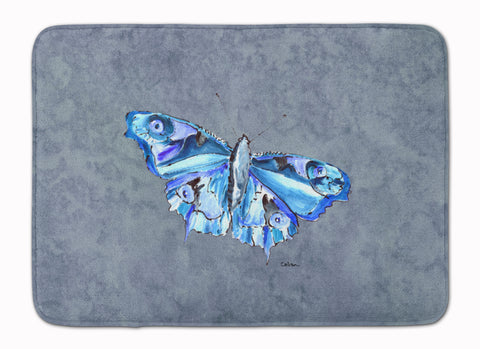 Buy this Butterfly on Gray Machine Washable Memory Foam Mat 8856RUG