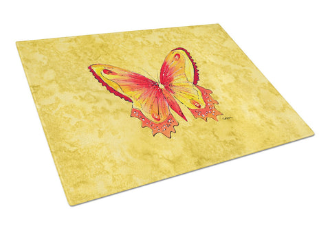 Buy this Butterfly on Yellow Glass Cutting Board Large