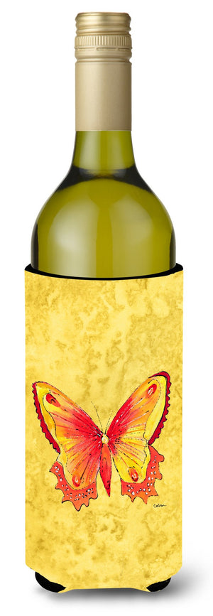 Buy this Butterfly on Yellow Wine Bottle Beverage Insulator Beverage Insulator Hugger