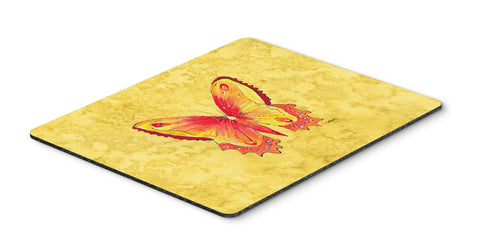 Buy this Butterfly on Yellow Mouse Pad, Hot Pad or Trivet