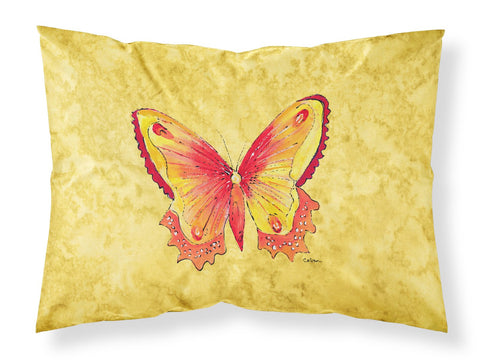 Buy this Butterfly on Yellow Moisture wicking Fabric standard pillowcase