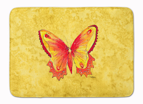 Buy this Butterfly on Yellow Machine Washable Memory Foam Mat 8857RUG