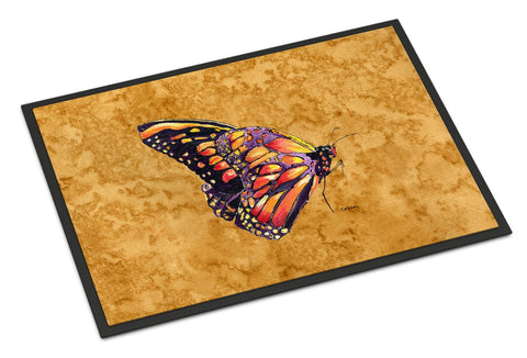 Buy this Butterfly on Gold Indoor or Outdoor Mat 24x36 Doormat