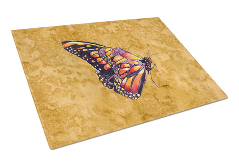 Buy this Butterfly on Gold Glass Cutting Board Large