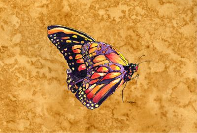 Buy this Butterfly on Gold Fabric Placemat