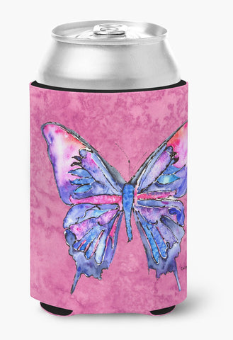 Buy this Butterfly on Pink Can or Bottle Beverage Insulator Hugger