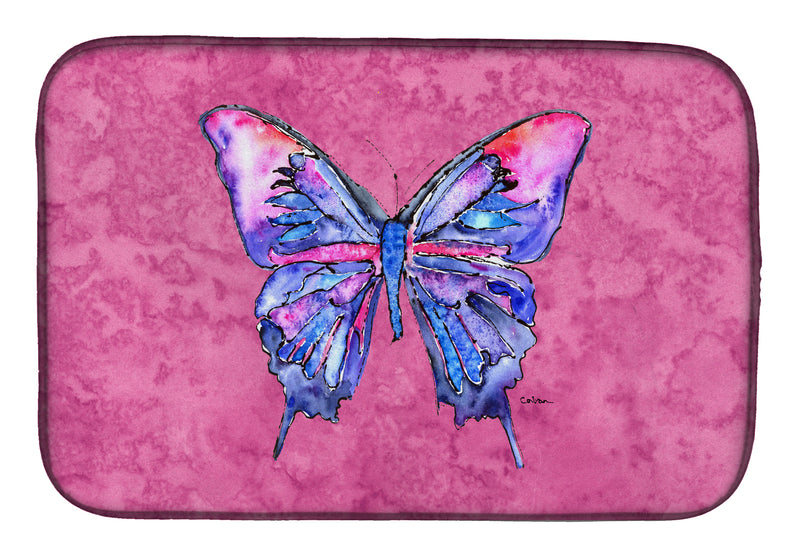 Buy this Butterfly on Pink Dish Drying Mat 8859DDM