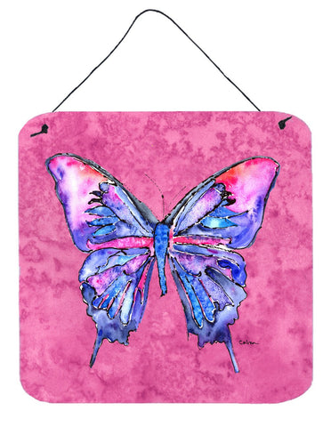 Buy this Butterfly on Pink Aluminium Metal Wall or Door Hanging Prints