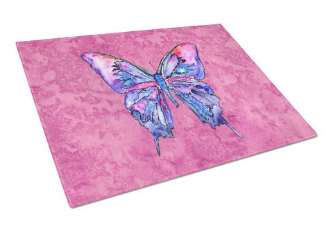 Buy this Butterfly on Pink Glass Cutting Board Large