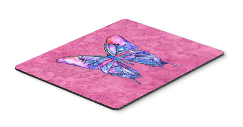 Buy this Butterfly on Pink Mouse Pad, Hot Pad or Trivet