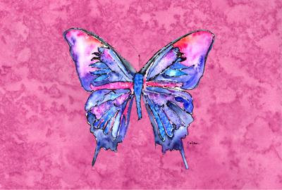 Buy this Butterfly on Pink Fabric Placemat