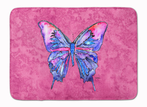 Buy this Butterfly on Pink Machine Washable Memory Foam Mat 8859RUG