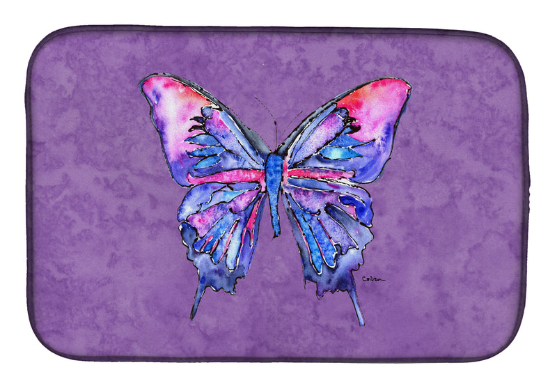 Buy this Butterfly on Purple Dish Drying Mat 8860DDM