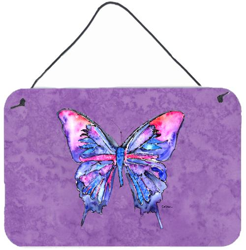 Buy this Butterfly on Purple Aluminium Metal Wall or Door Hanging Prints