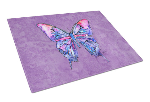 Buy this Butterfly on Purple Glass Cutting Board Large