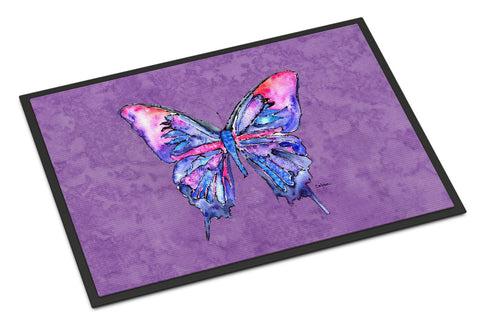 Buy this Butterfly on Purple Indoor or Outdoor Mat 18x27 Doormat
