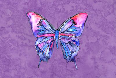 Buy this Butterfly on Purple Fabric Placemat