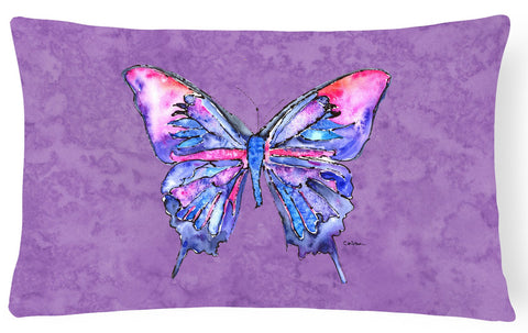 Buy this Butterfly on Purple   Canvas Fabric Decorative Pillow