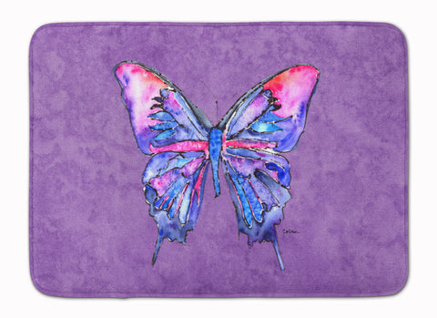 Buy this Butterfly on Purple Machine Washable Memory Foam Mat 8860RUG