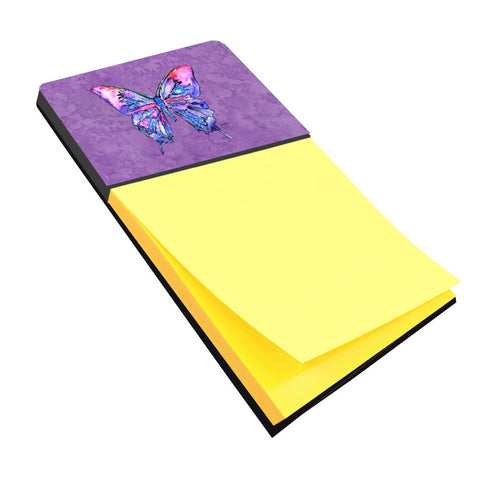 Buy this Butterfly on Purple Refiillable Sticky Note Holder or Postit Note Dispenser 8860SN