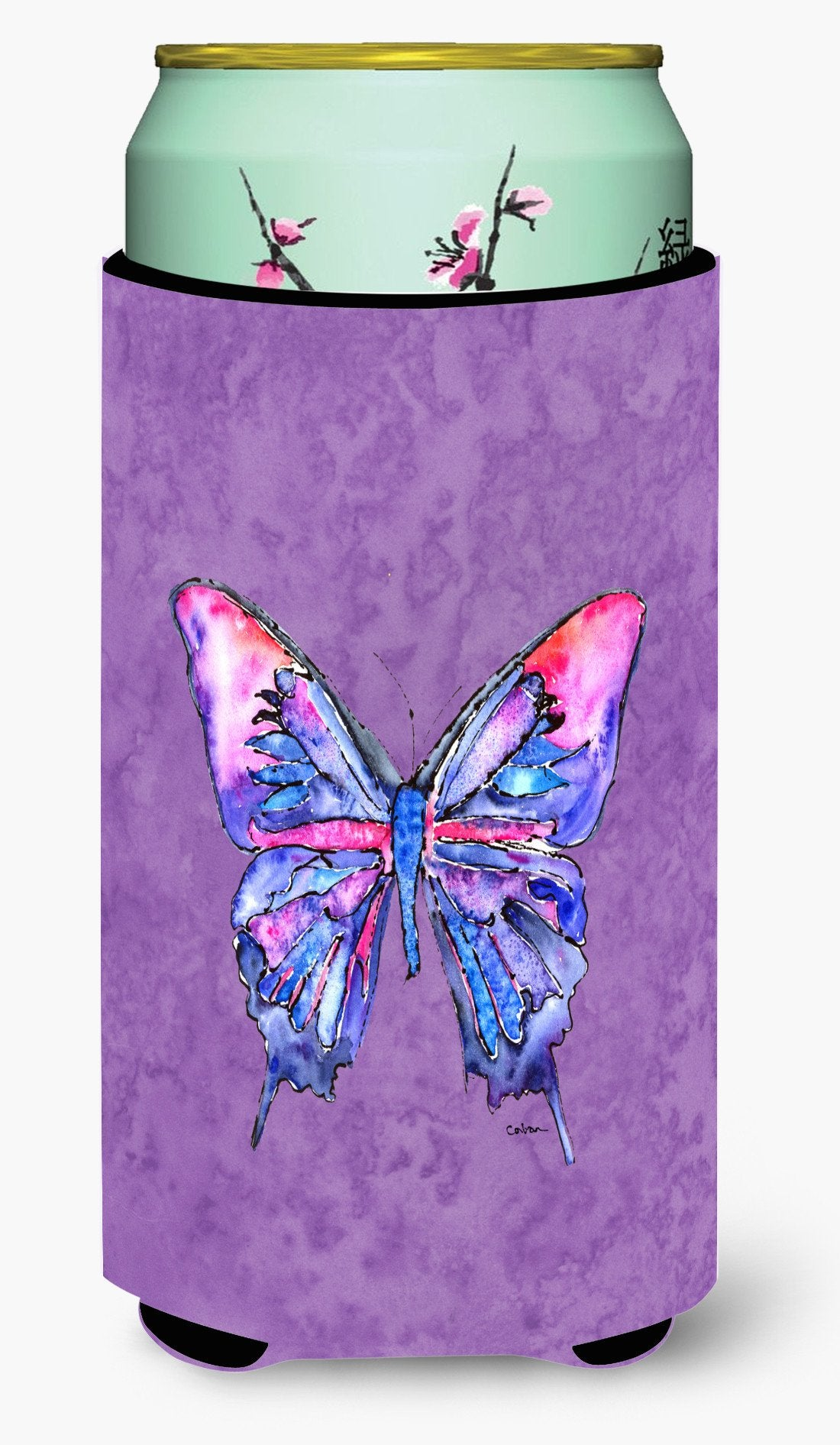 Buy this Butterfly on Purple  Tall Boy Beverage Insulator Beverage Insulator Hugger