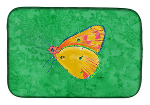 Buy this Butterfly Orange on Green Dish Drying Mat 8861DDM