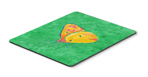 Buy this Butterfly Orange on Green Mouse Pad, Hot Pad or Trivet