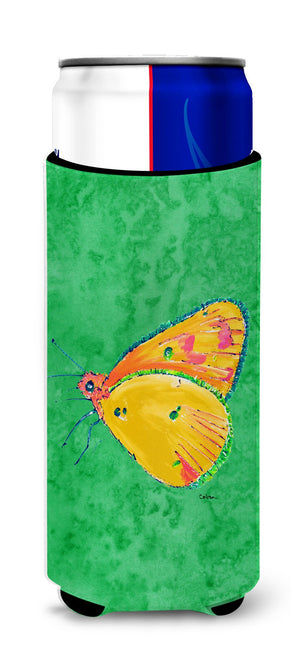 Butterfly Orange on Green Ultra Beverage Insulators for slim cans 8861MUK - the-store.com