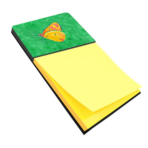 Buy this Butterfly Orange on Green Refiillable Sticky Note Holder or Postit Note Dispenser 8861SN