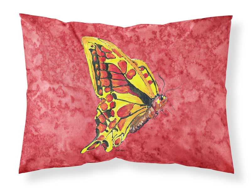Buy this Butterfly on Red Moisture wicking Fabric standard pillowcase