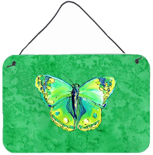 Buy this Butterfly Green on Green Aluminium Metal Wall or Door Hanging Prints