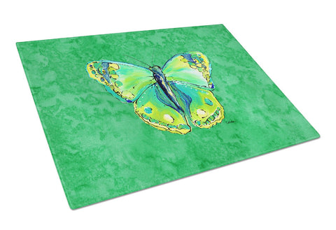 Buy this Butterfly Green on Green Glass Cutting Board Large
