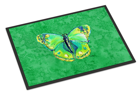 Buy this Butterfly Green on Green Indoor or Outdoor Mat 18x27 Doormat