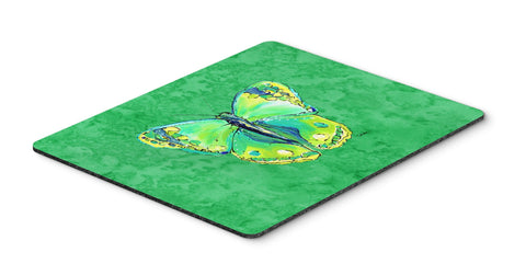 Buy this Butterfly Green on Green Mouse Pad, Hot Pad or Trivet