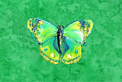 Butterfly Green on Green Fabric Placemat by Caroline's Treasures