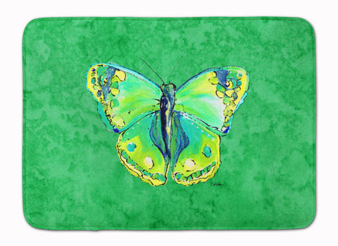 Buy this Butterfly Green on Green Machine Washable Memory Foam Mat 8863RUG