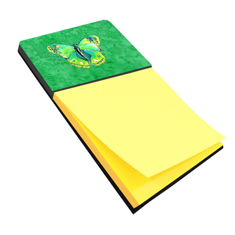 Buy this Butterfly Green on Green Refiillable Sticky Note Holder or Postit Note Dispenser 8863SN