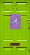 Dragonfly on Purple Aluminium Metal Wall or Door Hanging Prints by Caroline's Treasures
