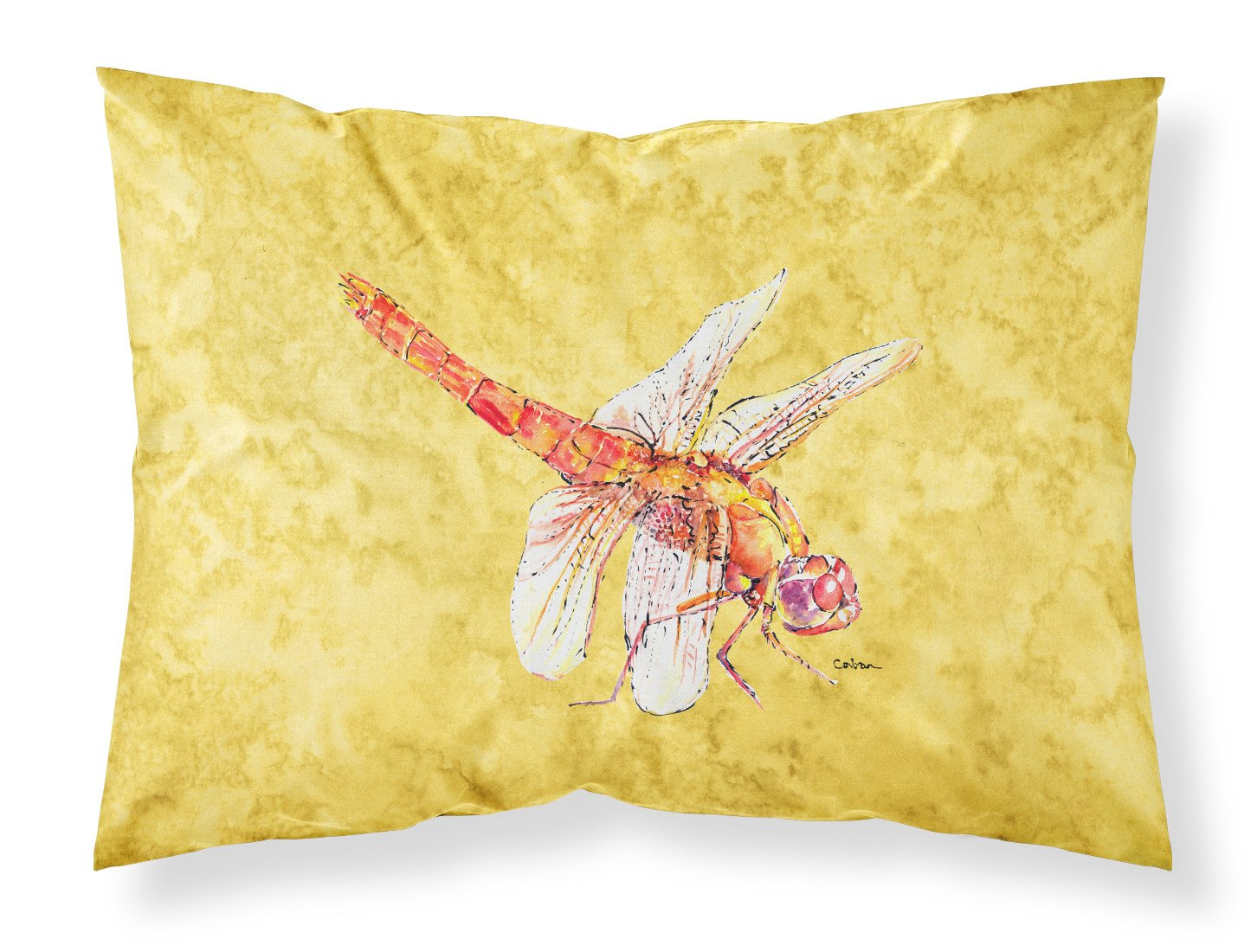 Buy this Dragonfly on Yellow Moisture wicking Fabric standard pillowcase