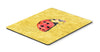 Lady Bug on Yellow Mouse Pad, Hot Pad or Trivet by Caroline's Treasures