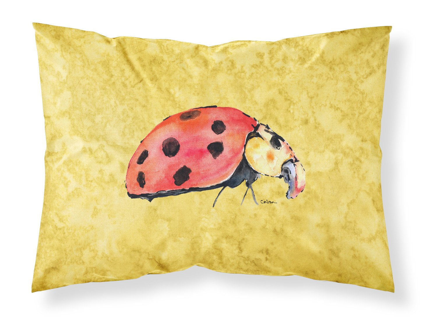 Buy this Lady Bug on Yellow Moisture wicking Fabric standard pillowcase