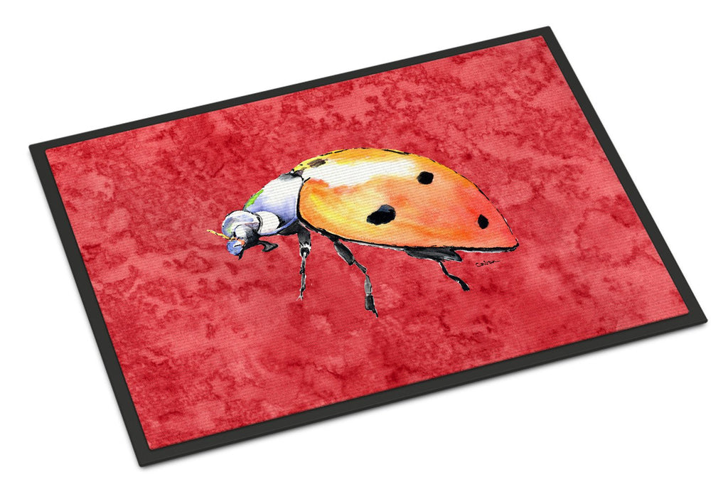 Buy this Lady Bug on Red Indoor or Outdoor Mat 18x27 Doormat